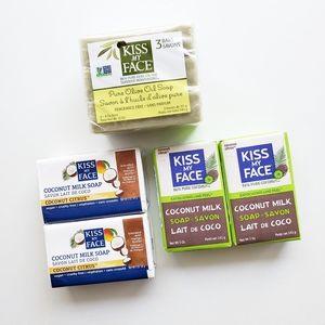 Kiss My Face Bar Soap Lot (7 Bars Total)